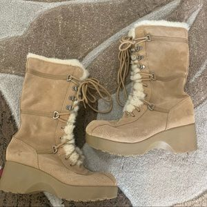 Report Suede Boots with Faux Fur Lining
